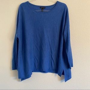 Eileen Fisher blue Cashmere sweater Size Small